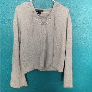 nwot cute lace up top!